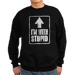 Vintage I'm With Stupid [u] Sweatshirt (dark)