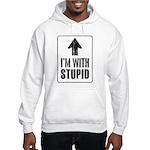 Vintage I'm With Stupid [u] Hooded Sweatshirt