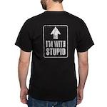 Vintage I'm With Stupid [u] Dark T-Shirt