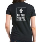 Vintage I'm With Stupid [u] Women's Dark T-Shirt