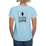 Vintage I'm With Stupid [u] Women's Light T-Shirt