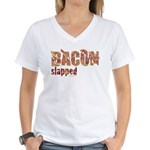 Bacon Slapped Women's V-Neck T-Shirt