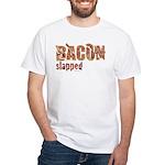 Bacon Slapped White T-Shirt