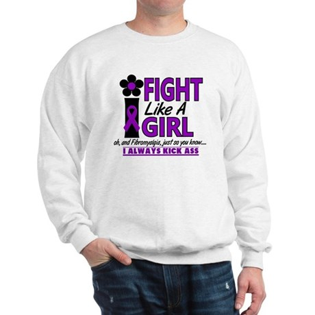 Licensed Fight Like a Girl 1.2 Fibromya Sweatshirt