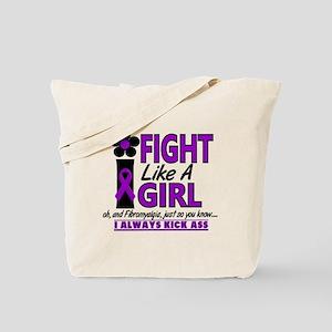 Licensed Fight Like a Girl 1.2 Fibromyalg Tote Bag