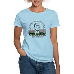 Obama Peace Prize Windmills Women's Light T-Shirt