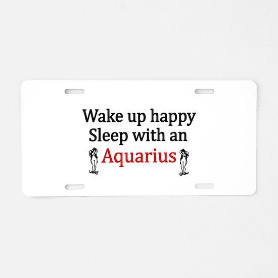 Cute Aquarius Aluminum License Plate