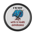 I'm Not 40 Large Wall Clock