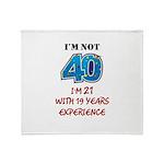 I'm Not 40 Throw Blanket