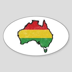 Reggae Australia Sticker (Oval)