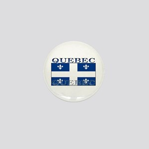 Quebec Quebecer Flag Mini Button