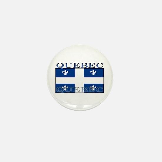 Quebec Quebecer Flag Mini Button