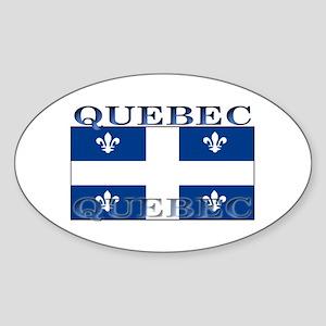 Quebec Quebecer Flag Oval Sticker