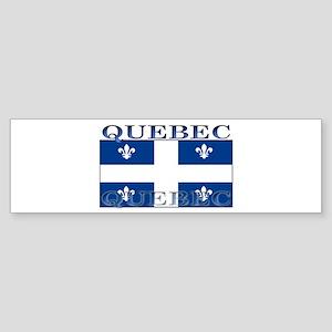 Quebec Quebecer Flag Bumper Sticker