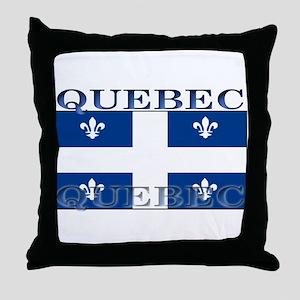 Quebec Quebecer Flag Throw Pillow