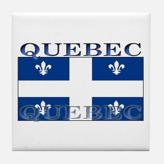 Quebec Quebecer Flag Tile Coaster
