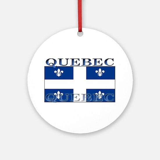 Quebec Quebecer Flag Christmas Ornament