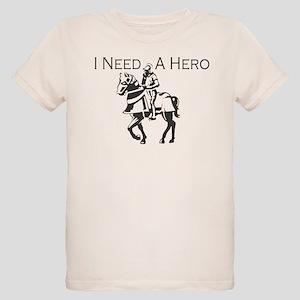 I Need a Hero Organic Kids T-Shirt