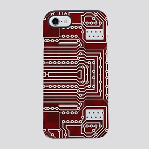 Red Geek Motherboard Circuit P iPhone 7 Tough Case