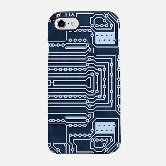 Blue Geek Motherboard Circuit iPhone 7 Tough Case