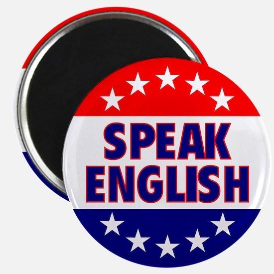 "Speak English 2.25"" Magnet"