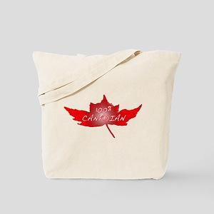 100% Canadian Tote Bag