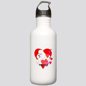 White Poodle Stainless Water Bottle 1.0L