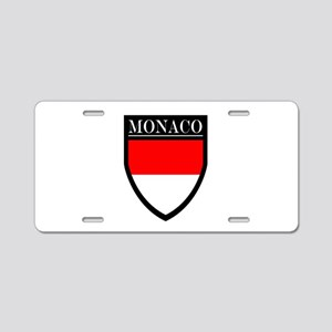 Monaco Flag Patch Aluminum License Plate