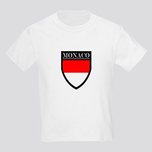 Monaco Flag Patch Kids Light T-Shirt