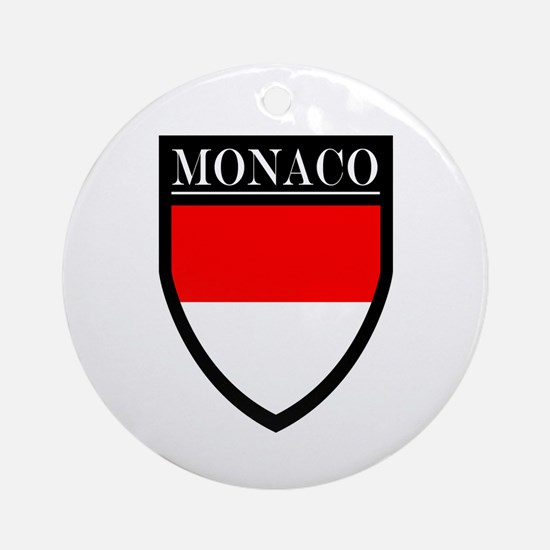 Monaco Flag Patch Ornament (Round)