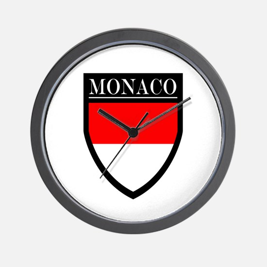 Monaco Flag Patch Wall Clock