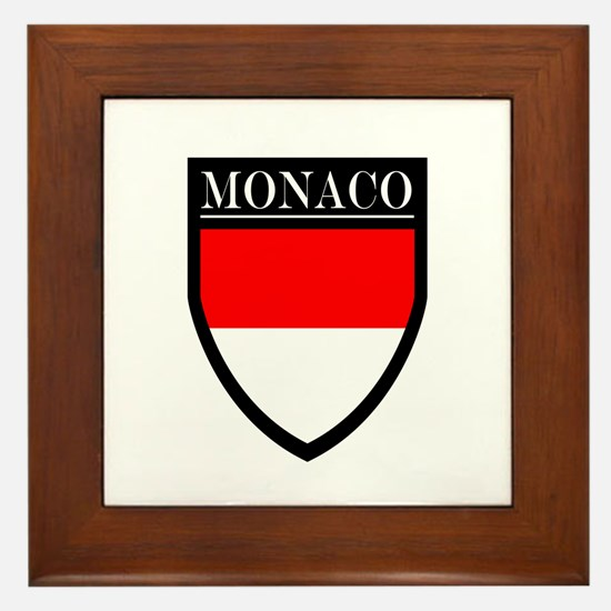 Monaco Flag Patch Framed Tile