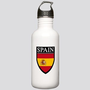Spain Flag Patch Stainless Water Bottle 1.0L