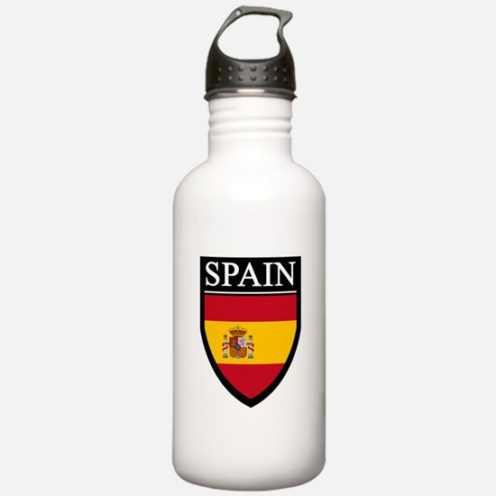 Spain Flag Patch Water Bottle