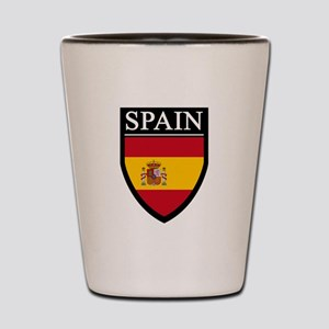 Spain Flag Patch Shot Glass