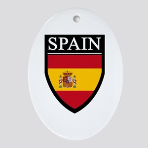 Spain Flag Patch Ornament (Oval)