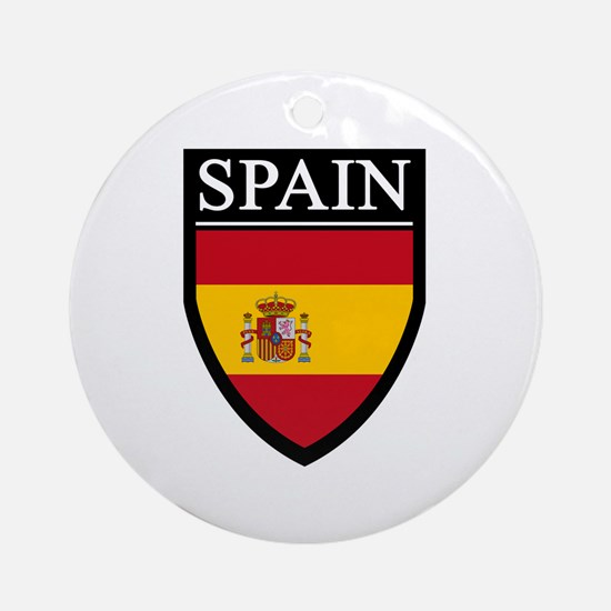 Spain Flag Patch Ornament (Round)
