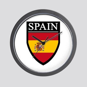 Spain Flag Patch Wall Clock