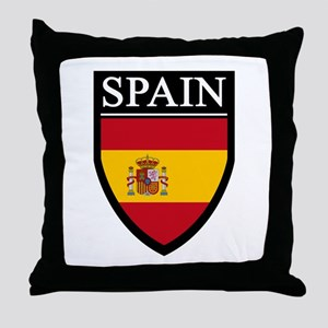 Spain Flag Patch Throw Pillow