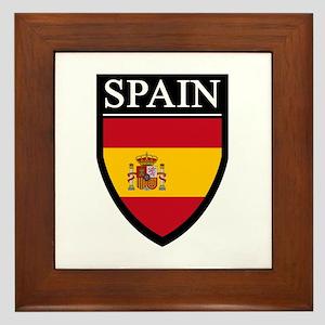 Spain Flag Patch Framed Tile