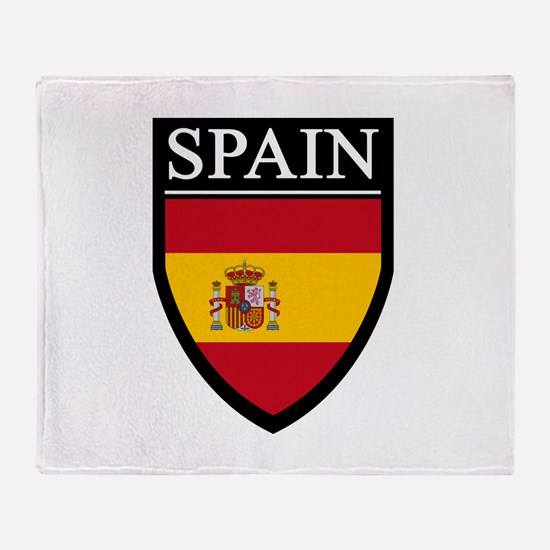 Spain Flag Patch Throw Blanket