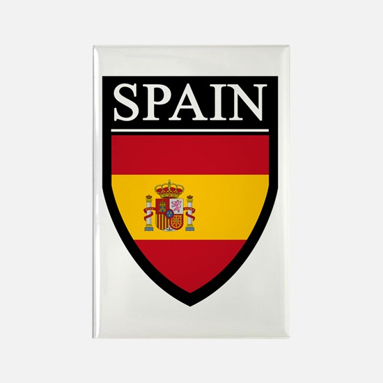 Spain Flag Patch Rectangle Magnet (100 pack)