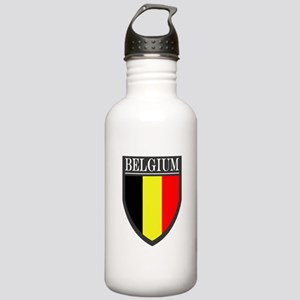 Belgium Flag Patch Stainless Water Bottle 1.0L