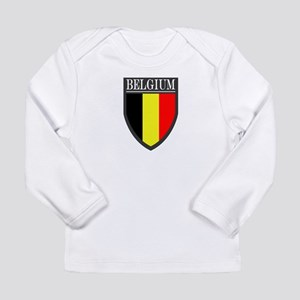 Belgium Flag Patch Long Sleeve Infant T-Shirt