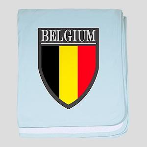 Belgium Flag Patch baby blanket
