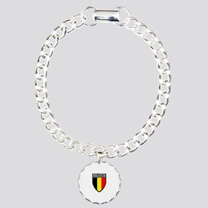 Belgium Flag Patch Charm Bracelet, One Charm