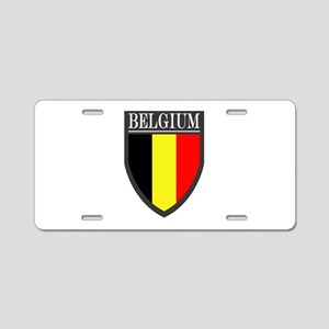 Belgium Flag Patch Aluminum License Plate