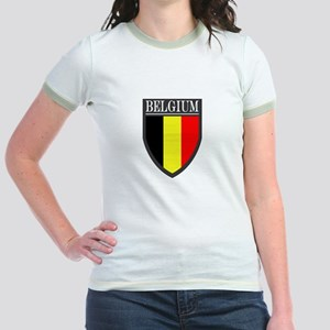 Belgium Flag Patch Jr. Ringer T-Shirt