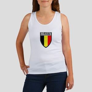 Belgium Flag Patch Women's Tank Top