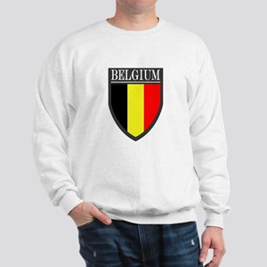 Belgium Flag Patch Sweatshirt